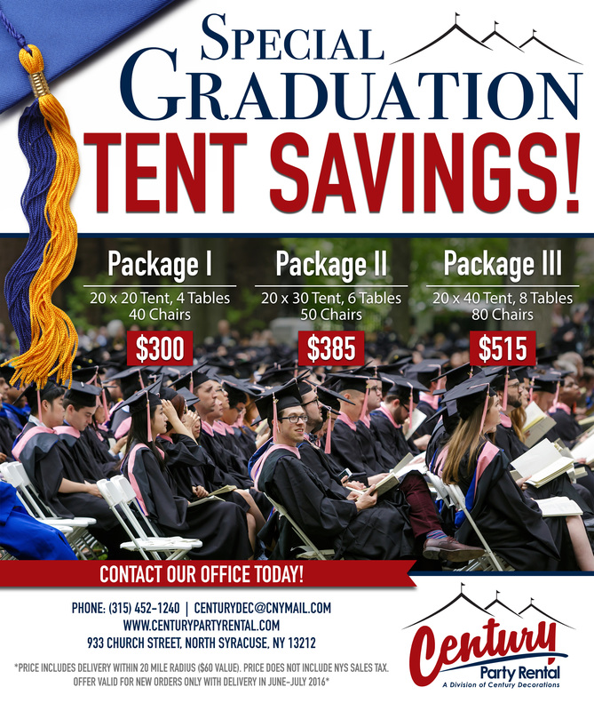 Party rentals | Syracuse, NY | Graduation Party Rentals